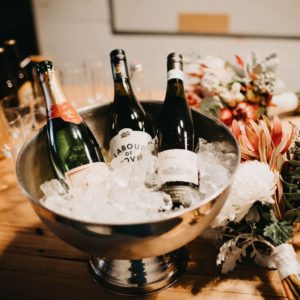 pop up bar with wine and sparkling